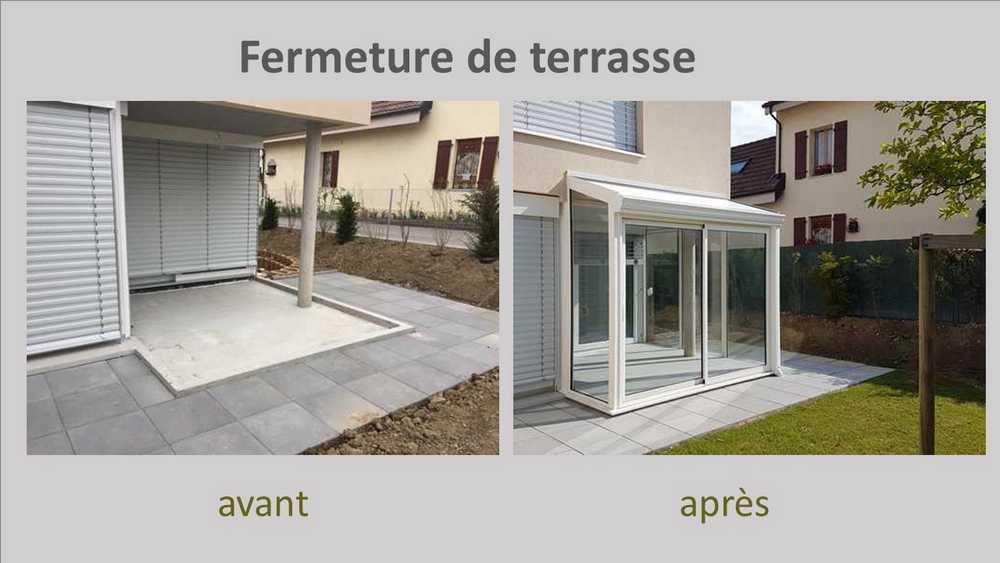 terrasse ferme veranda stunning tonnelle en bois pour mobilhome ou terrasse kiosque with. Black Bedroom Furniture Sets. Home Design Ideas